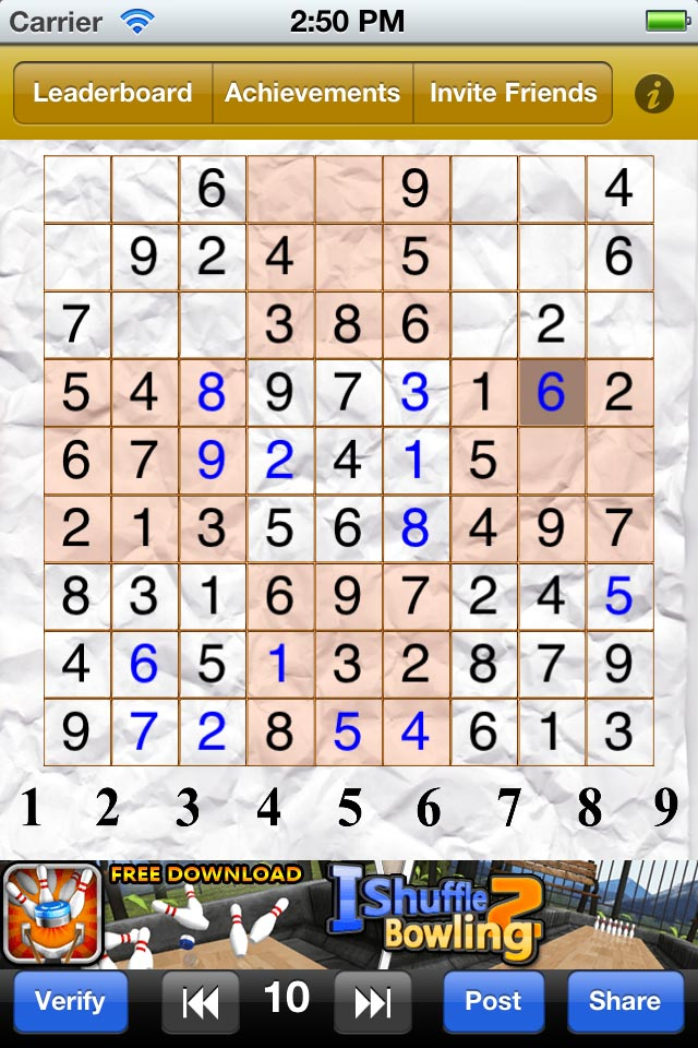 Screenshot Sudoku 9×9 Game